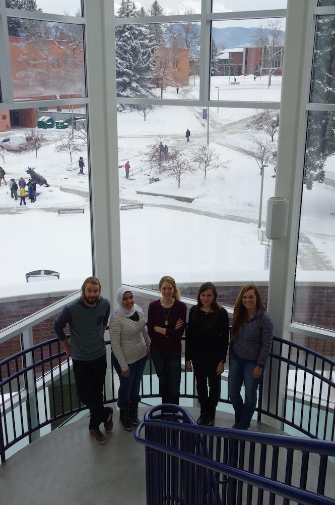 Winter at Montana State University.
